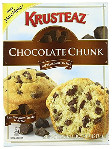 Krusteaz Supreme Muffin Mix Chocolate Chunk 18.25 oz ( 2 PACK)