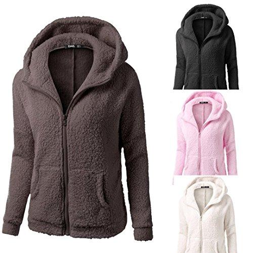 Women Coat,Haoricu Clearance Fashion Women Winter Warm Soft Zipper Hooded Sweater Coat Outwear