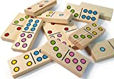 Dominoes for kids - Math Domino Color Dots - Wooden Dominos with Numbers…