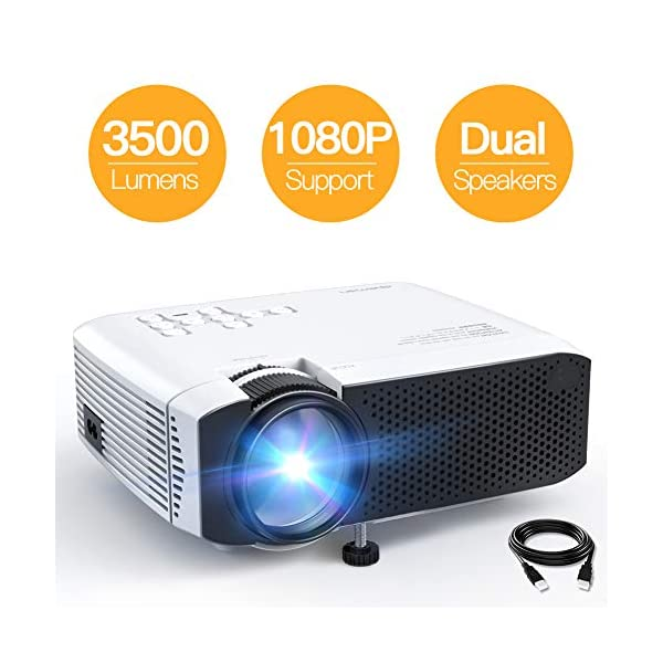 Projector, APEMAN Mini Portable 3500L Video Projector LED with Dual Speakers 45000...