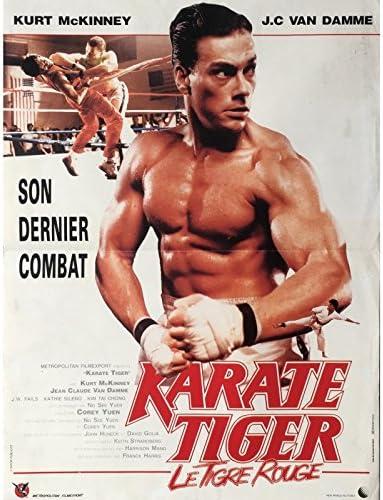 KARATE TIGER Affiche de film 40x60 cm - 1986 - Jean-Claude Van ...