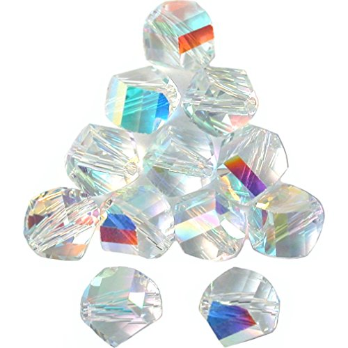 (12 Crystal AB Helix Swarovski Crystal Beads 5020 6mm)