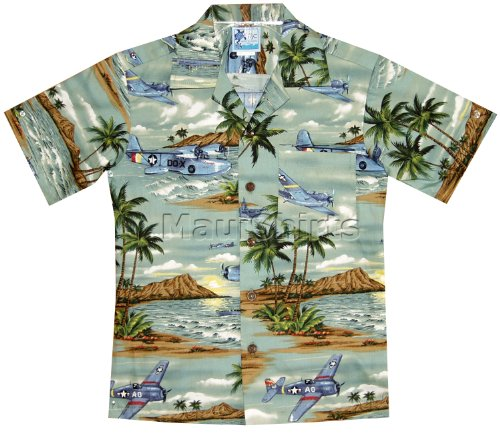 RJC Boys Island Aviation Shirt in Green - 18 by RJC (Image #1)