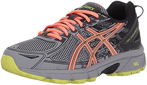 ASICS Women's Gel-Venture 6 Running-Shoes,Phantom/Coral/Lime,9 Medium US