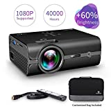 VANKYO Leisure 410 (+60% Brightness) LED Mini Free Carrying Bag Cable, Portable Projector Supports 1080P, Hdmi, USB, Vga, AV, SD Card, Compatible with Fire TV Stick, PS3/PS4, Xbox (2-Black)