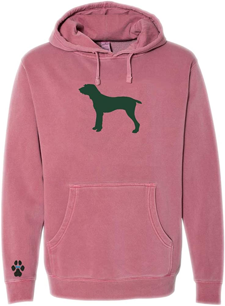 Heavyweight Pigment-Dyed Hooded Sweatshirt with/Pudelpointer Silhouette