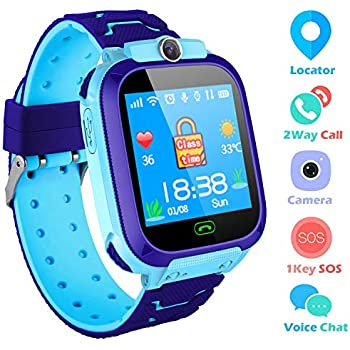 Kids Smartwatch,THEMOEMOE GPS Kids Tracker Samrt Watch with Camera Calls SOS Smart Watch for Kids Girls Boys(Blue)