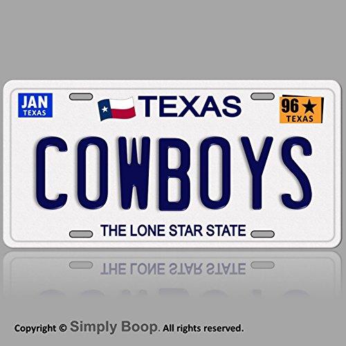 all Team TX 1996 Prop Replica Aluminum License Plate Tag 96 ()