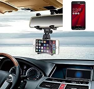 Sostenedor del montaje espejo retrovisor para Asus ZenFone Go, negro | Escuadra de coches - K-S-Trade (TM)