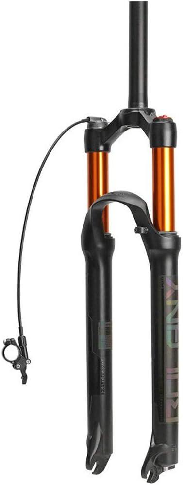 ZNND Suspensión Delantera Bicicleta, 26 Pulgadas Bicicleta Montaña MTB Horquilla De Suspensión Aleación Aluminio Freno Disco Ajuste Viajar 100mm Negro: Amazon.es: Deportes y aire libre