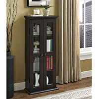 WE Furniture 41 Media Storage Cabinet, Espresso