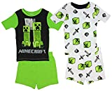 Minecraft Little/Big Boys Charcter Print Four-Piece Snug Fit Pajama Short Set (8)