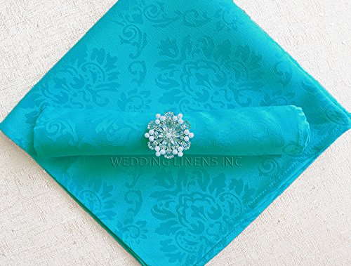 Wedding Linens Inc. 10 pcs Marquis Jacquard Damask Polyester 20