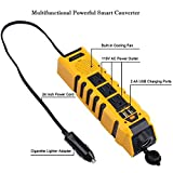 Webetop 150W Car Power Inverter DC 12V to 110V AC Converter Adapter with 3 AC Outlet /Dual USB Ports /Cigarette Lighter Socket for Laptop /Phones /Car Powered Device /3-Year Quality Warranty