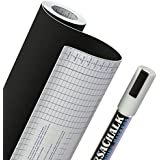 "Chalkboard Contact Paper + BONUS Chalk Marker - 18"" W x 96"" L (8 FEET) - 33% more than other brands!"