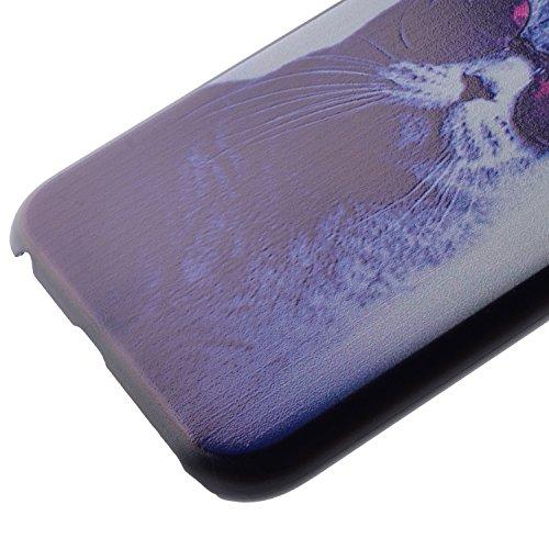 Wkae Case Cover neue comic - katze mit blumen color design aus schwarzem kunststoff pc - hard cover für iphone 5s 65 65 plus 6 5. ( PATTERN : 3 , Size : Iphone 6/6S )