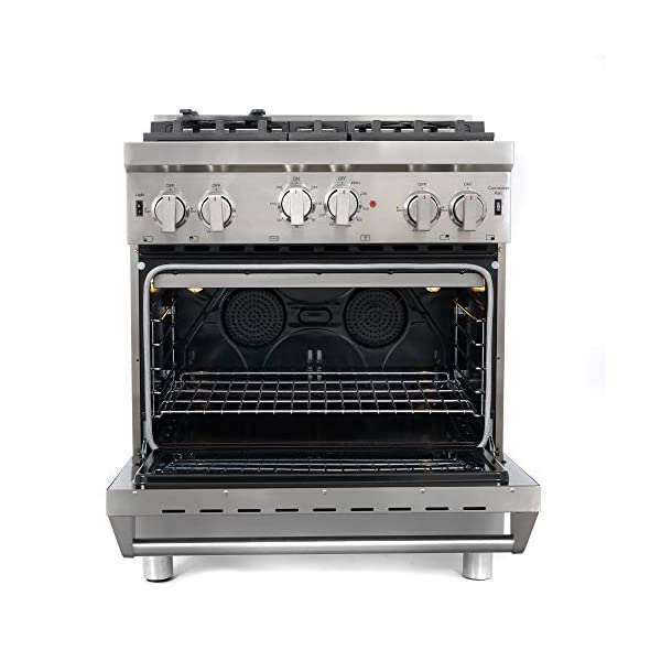 Cosmo GRP304 30 in. Freestanding/Slide-in Gas Range with 4 Sealed Burner Rangetop, Rapid Convection Single Oven, Heavy… 5