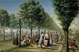 Oil Painting 'Bayeu Y Subias Francisco El Paseo De Las Delicias En Madrid Ca. 1785 ' Printing On High Quality Polyster Canvas , 18 X 27 Inch / 46 X 68 Cm ,the Best Bedroom Artwork And Home Decoration And Gifts Is This High Definition Art Decorative Canvas Prints