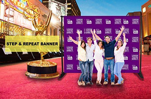 Custom Vinyl Step and Repeat Banners - 8ft X 8ft ()
