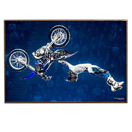 Nitro Wall (Silver Buffalo Nitro Circus NC0436 Silver Buffalo Biker Flip Wood Wall Art Plaque, 13 x19 inches)