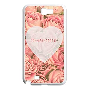 FLYBAI Painted Flower Phone Case For Samsung Galaxy Note 2 N7100 [Pattern-2]