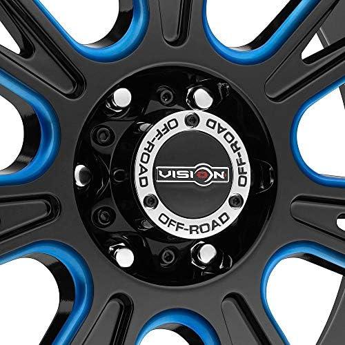 10mm Black//Milled//Red Wheel Rim Vision 399 Fury 20x9 6x139.7//6x5.5