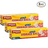 Propack Twist - Tie Gallon Size Storage Bags 100 Bags Pack Of 3