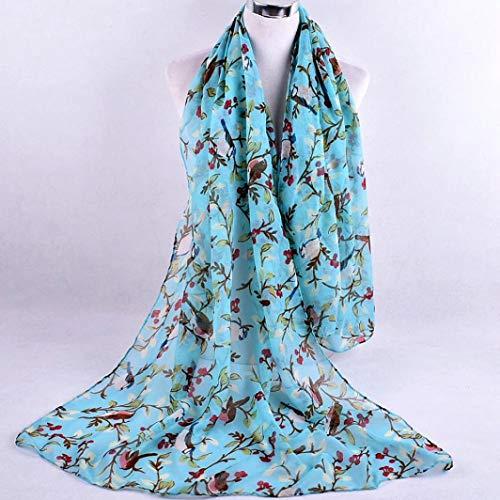 Azul Mantón De La Impreso Abrigo Absolute El Para Bufandas ❤️ Del Suave Señoras Mujeres Gasa Forman las 87axxPHwq