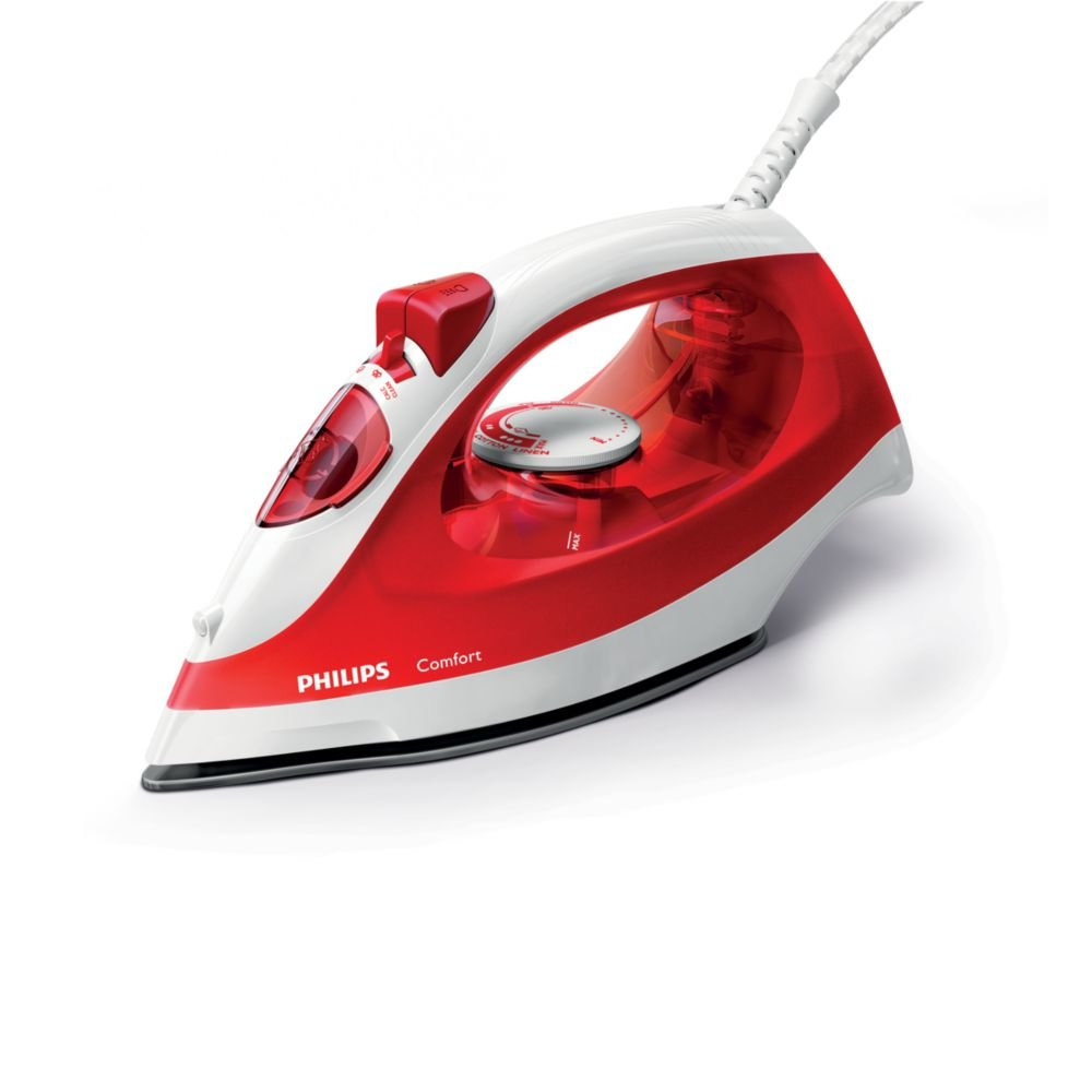 Philips GC1433 - Plancha a vapor, 2000 W, color rojo y blanco