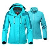 OutdoorMaster Women's 3-in-1 Ski Jacket - Winter Jacket Set with Fleece Liner Jacket