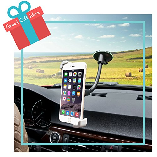 Mobile Phone Car Holder 2-in-1 Air vent & Windshield from Xobebe offers 360° Universal Fit. Mount Cellphone or GPS in Seconds with Adjustable secure Grip for iPhone 6, 6 plus, 5, 5s, 5c, Samsung Galaxy S5, S4, S3, Note 4 and most Smartphones. Perfect Secret Santa Holiday Gift ! (Difference Between Iphone 5 5c And 5s)