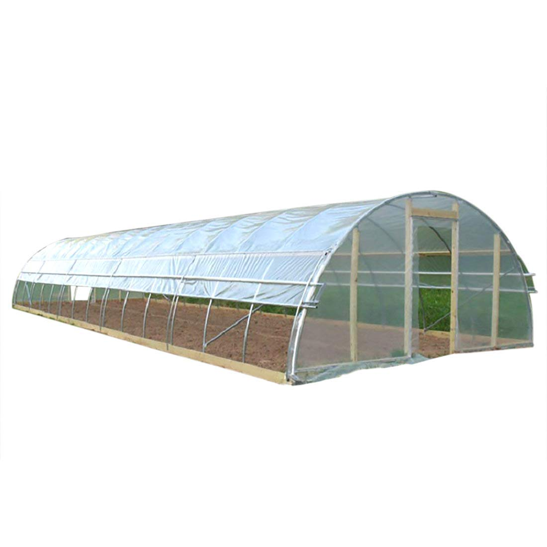 Agfabric 5.5Mil Plastic Covering Clear Polyethylene Greenhouse Film UV Resistant for Grow Tunnel and Garden Hoop, Plant Cover&Frost Blanket for Season Extension, 12x10ft by Agfabric (Image #1)