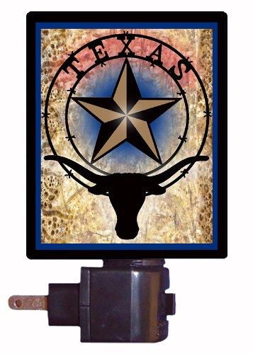 (Texas Night Light, Texas Star and Longhorn)