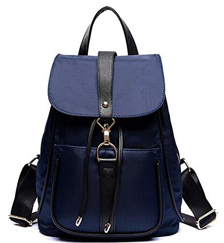 Ecokaki(TM) Fashion Water Resistant Women's Bag Casual Drawstring Backpack Cute Schoolbag Shoulder Bag, Blue