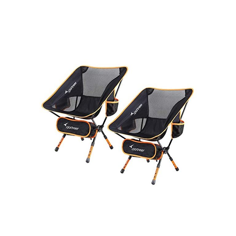 Sportneer Campingstuhl 2er Set, Tragbar Leicht Faltbar Camping Stuhl bis zu 150 kg für Backpacking/Wandern/Picknick…