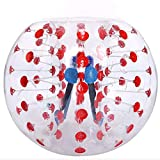 Flyerstoy Inflatable Bumper Ball Diameter 4/5 ft(1.2/1.5m) Bubble Soccer Ball Blow Up Toy,Giant Human Hamster Ball for Adults and Teens (Red Dot 4ft)