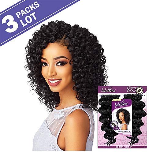 (3 PACKS/LOT Sensationnel Synthetic Hair Crochet Braids Lulutress 2X Deep Twist 8