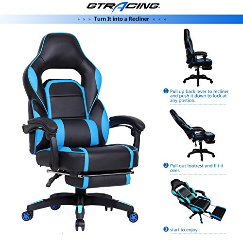 Gtracing High Back Ergonomic Gaming Chair Racing Chair