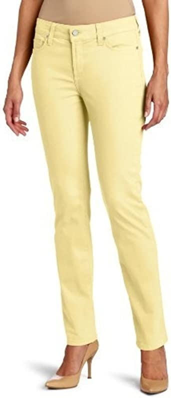 NYDJ Jeans Size 14P Sheri Skinny Yellow Buttercream Twill Denim Womens Not Your Daughters Jeans