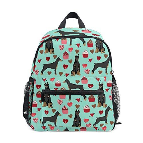 (Kids School Bag Backpack Doberman Pinscher Dog (2) Children Bookbag)