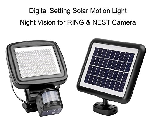1000 Lumen - MicroSolar - 126 LED - Lithium Battery - Digitally Adjustable TIME & LUX with Button - Vertically and Horizontally Adjustable Light Fixture - Solar Motion Sensor Light