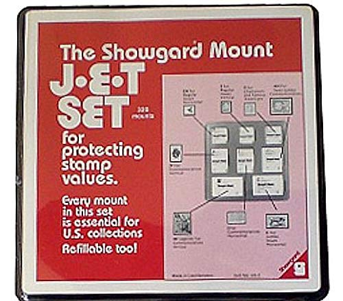 Clear Showgard Mounts - Jet Set Pack US2 (320 Pre-Cut Mounts in Refillable - Mounts Clear Stamp