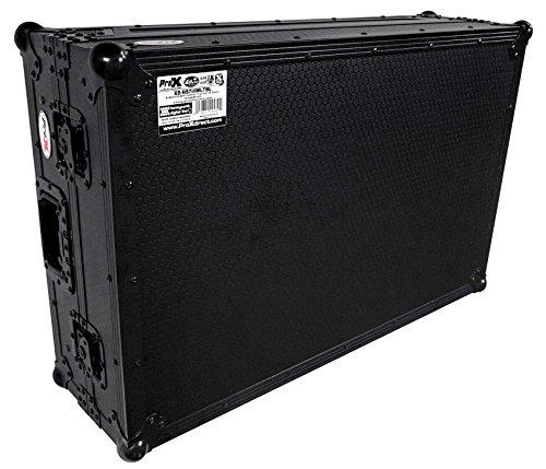 (Numark NS7II and NS7III Black on Black ProX Flight Case with Wheels & Laptop Shelf XS-NS7IIIWLTBL)
