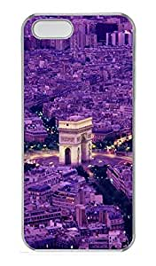 Arc De Triomph Faris France PC Case Cover for iPhone 5 and iPhone 5S Transparent