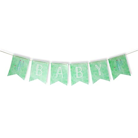 amazon com 1 5m long watercolor cactus baby shower banner for