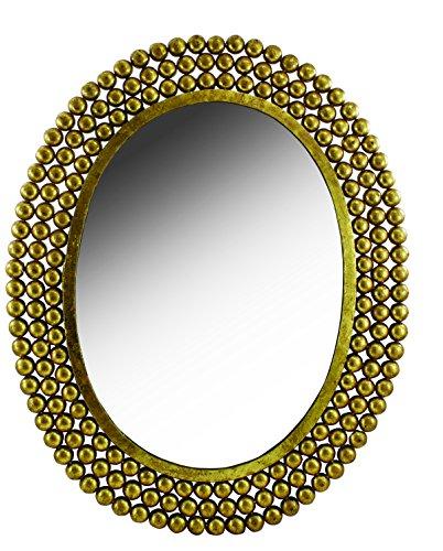 Split P Oval Nailhead Mirror - glass wall decor