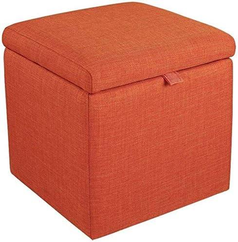 Cajas de joyería DJSSH Taburete de Almacenamiento de Las heces Caja Cubo puf heces con Tapa