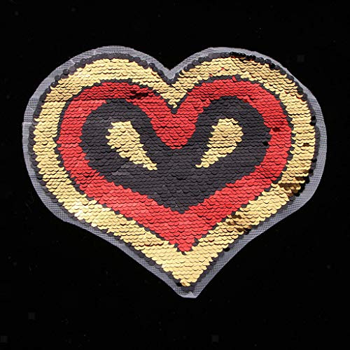 DIY Sequin Love Cupcake Piggy Iron On Embroidery Applique Patch Sew Iron Badge | Pattern - Heart 3