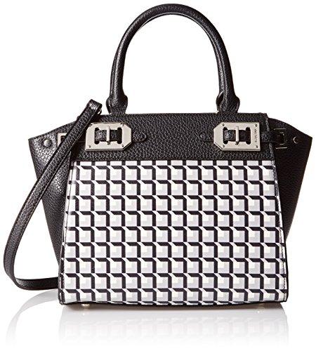 Mini Bag West Nine Mini (Nine West Gleam Team Mini Satchel Bag, Black/Neutral/Multi, One Size)
