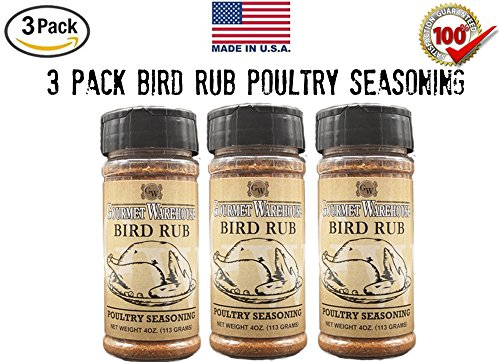 Gourmet Warehouse Bird Rub Poultry Seasoning - 3 pack, Thanksgiving, Turkey, Holiday, Christmas